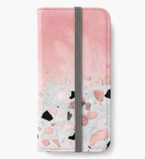 Modern abstract watercolor and marble design iPhone Wallet