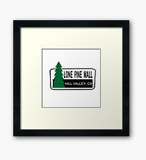 Lone Pine Mall - Back To The Future Framed Print