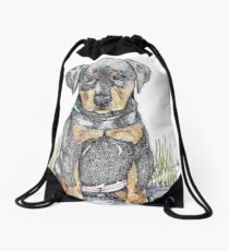 The Problem with Big Dogs Drawstring Bag
