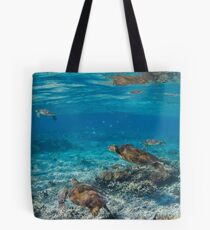 Turtle party - print Tote Bag