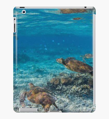 Turtle party - print iPad Case/Skin