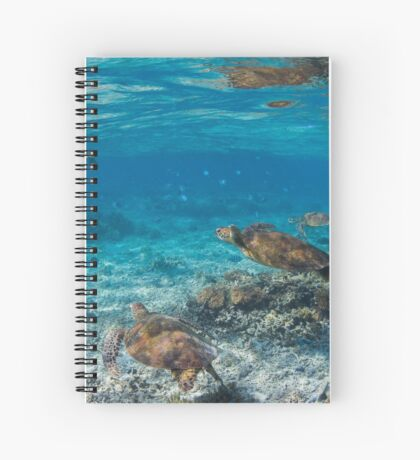 Turtle party - print Spiral Notebook