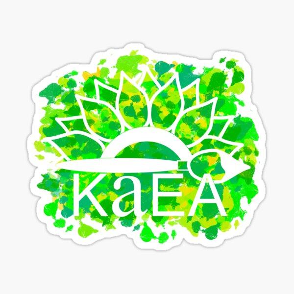 KAEA Logo Green & Yellow Paint Sticker