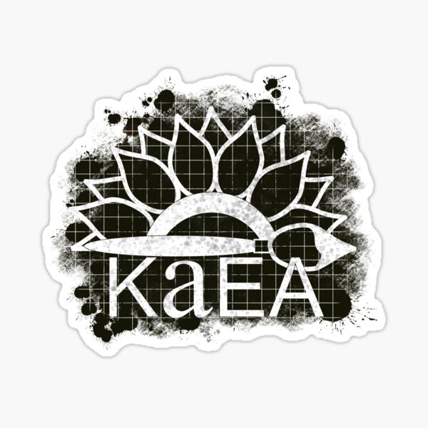 KAEA Logo Black and White Sticker
