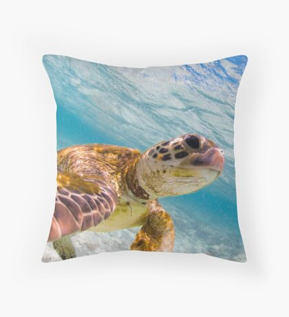 Turtle selfie - print Throw Pillow