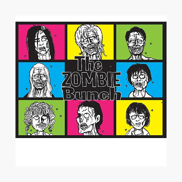 The Zombie Bunch Photographic Print