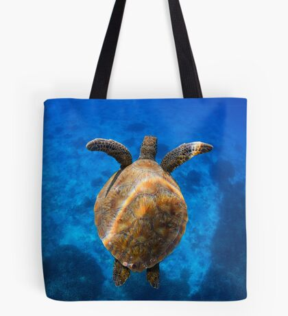 Cruising turtle - print Tote Bag