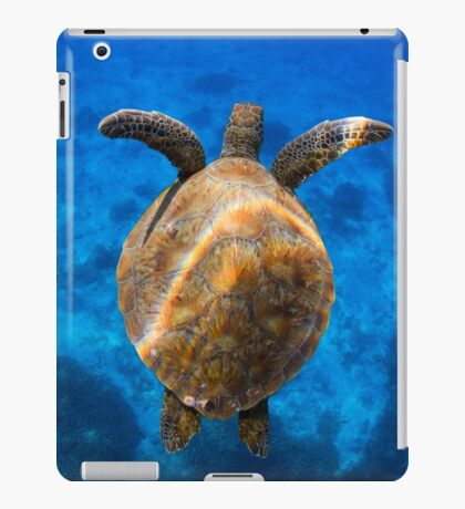 Cruising turtle - print iPad Case/Skin