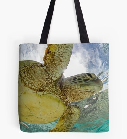 Hopeful turtle - print Tote Bag