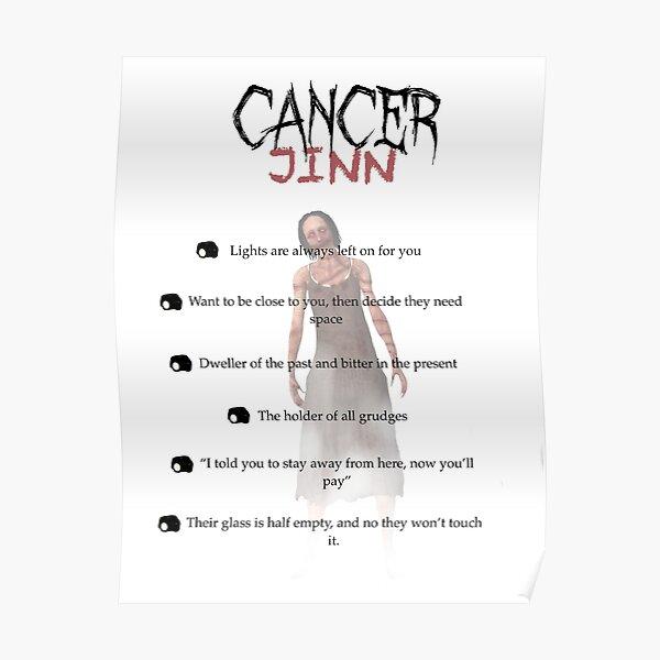 Sternzeichen als Phasmophobie-Geister - Krebs Poster