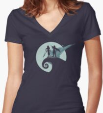 Nightmare Before Fantasy Women's Fitted V-Neck T-Shirt