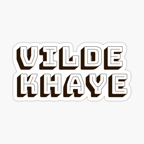 Vilde Khaye [dk brown block letters} Sticker