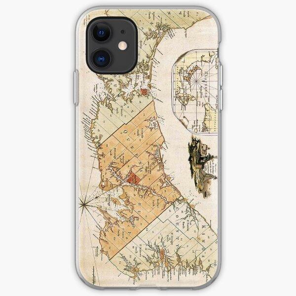 Vintage Karte von Prinz Edward Insel (1775) iPhone Flexible Hülle