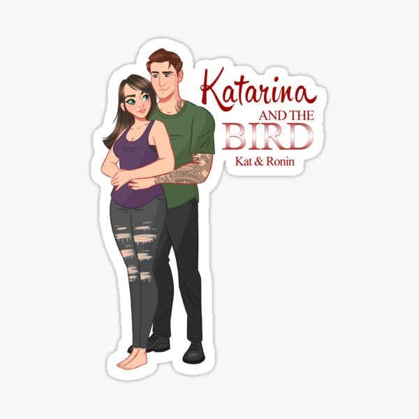 Katarina and the Bird Sticker