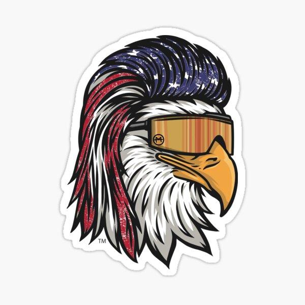 Eagle Mullet USA Sticker