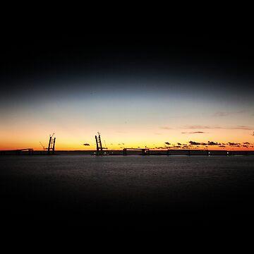 Sunset on the sea by oleksiyvovk
