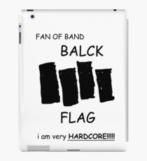 Fan of Band Balck FLAG VERY HARDCORE!!!!! iPad Case/Skin