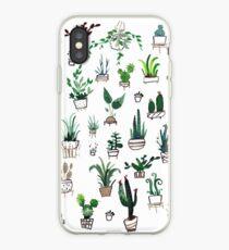 Succulent Plants Watercolor iPhone Case