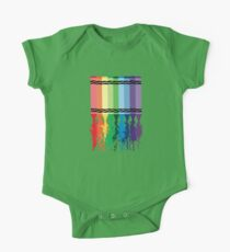Spattered Crayons  One Piece - Short Sleeve