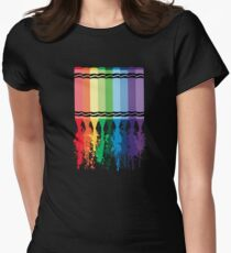 Spattered Crayons  Womens Fitted T-Shirt