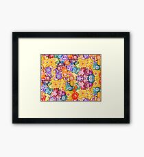 The Funky Flowers • All of Tomorrows Flowers-watercolor, alcohol ink Framed Print