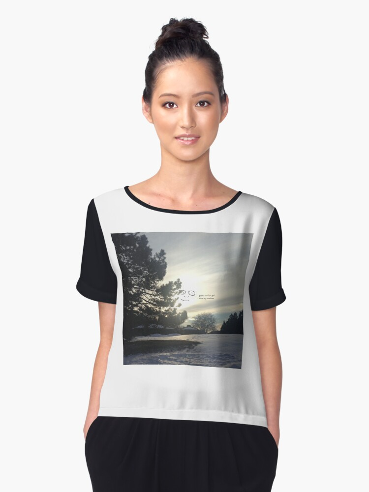 Face in the Sky Women's Chiffon Top Front