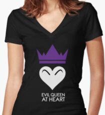 Evil Queen At Heart Women's Fitted V-Neck T-Shirt