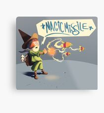 "The wizard casts ""Magic Missile"" Metal Print"
