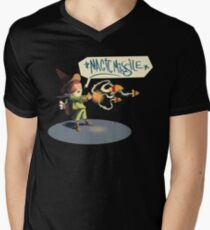 "The wizard casts ""Magic Missile"" Men's V-Neck T-Shirt"
