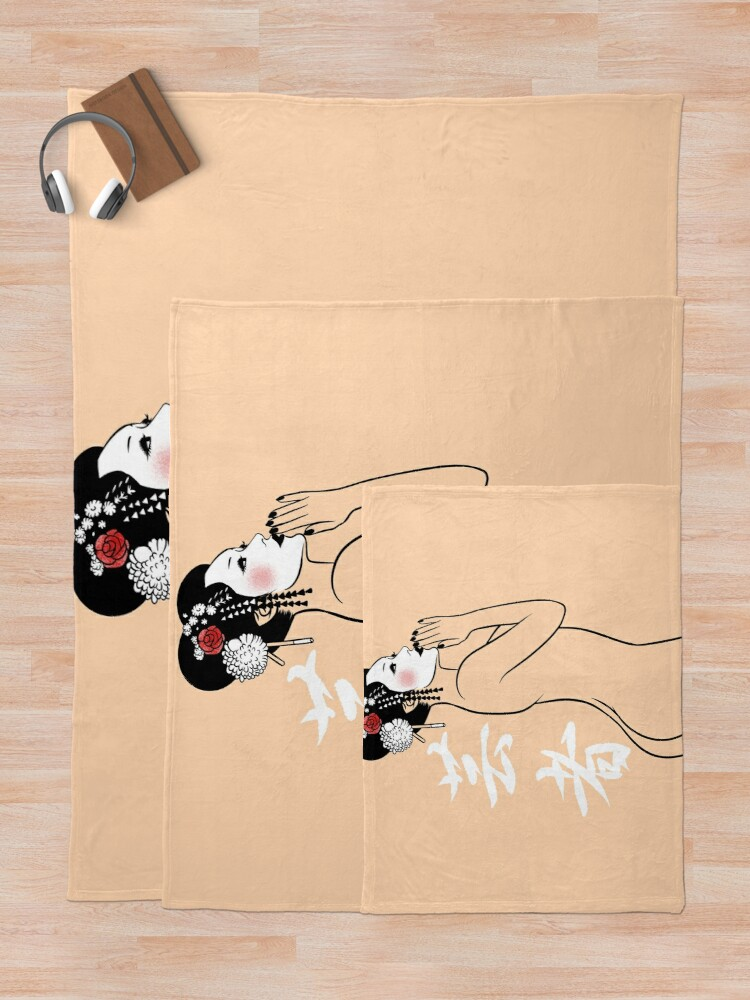 Alternate view of Geisha Nude Throw Blanket