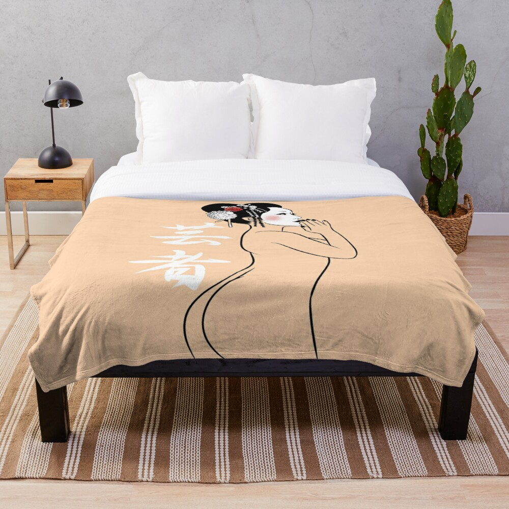 Geisha Nude Throw Blanket