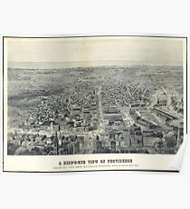 Vintage Pictorial Map of Providence RI (1895) Poster