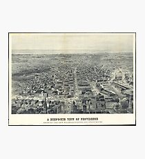 Vintage Pictorial Map of Providence RI (1895) Photographic Print
