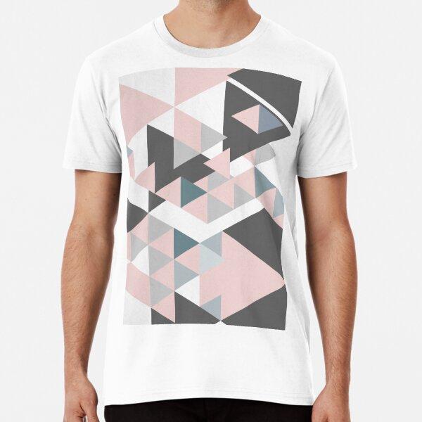 Triangle Geometric Design Graphical Pattern Premium T-Shirt