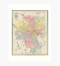 Vintage Map of Providence Rhode Island (1899) Art Print