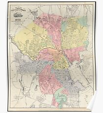 Vintage Map of Providence Rhode Island (1899) Poster