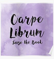 Carpe Librum Purple Poster