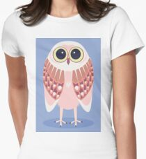 AWAKE OWL Womens Fitted T-Shirt