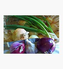 Onions in the Bag Photographic Print