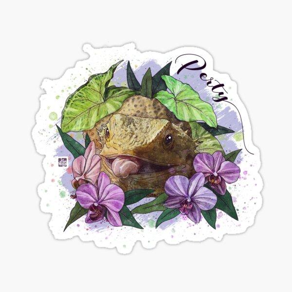 Perty the Beardie Sticker