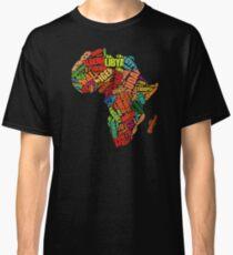 Africa Word Pattern Africa Map T-Shirt Classic T-Shirt