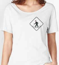 Pokemon Go Crossing Sign Women's Relaxed Fit T-Shirt