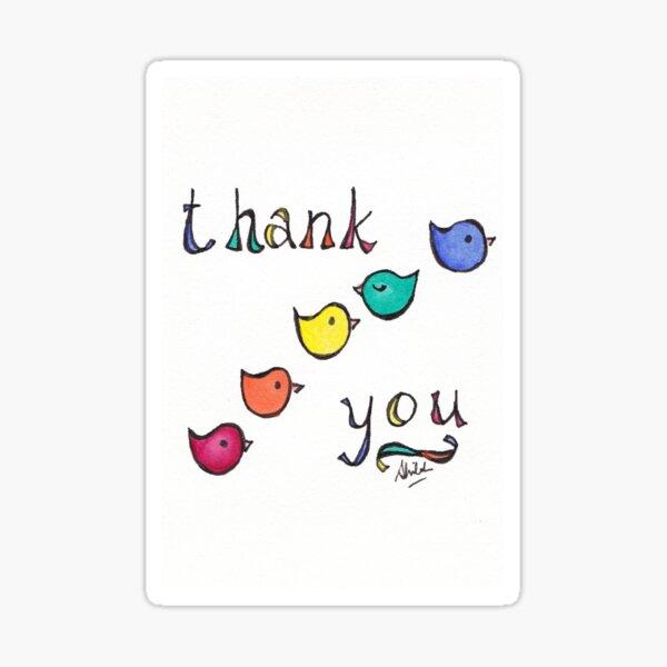 Thank You Birdies Sticker