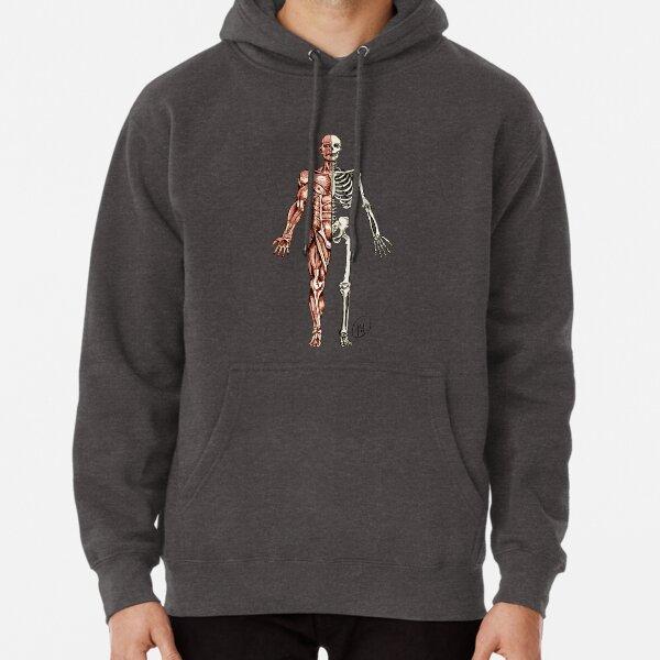 Half Muscle - Half Skeleton Pullover Hoodie