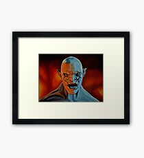 Azog The Orc Painting Framed Print