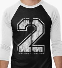 White Distressed Sports Number 2 T-Shirt