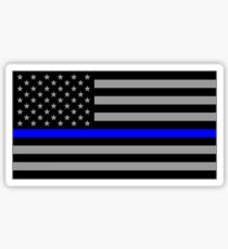 Basic Thin Blue Line American Flag Sticker