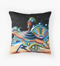 on the hand planet - m. a. weisse Throw Pillow