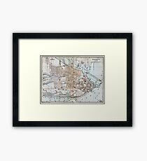 Vintage Map of Quebec City (1894) Framed Print