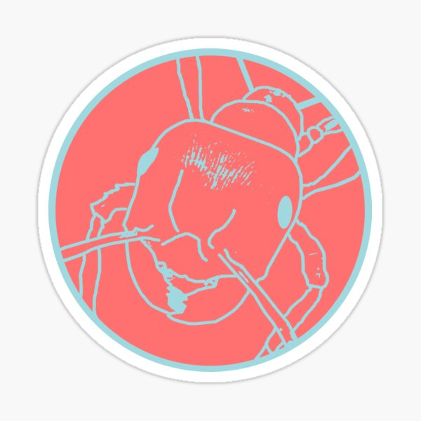 Fire Ant Design (Pastel Theme 4) Sticker